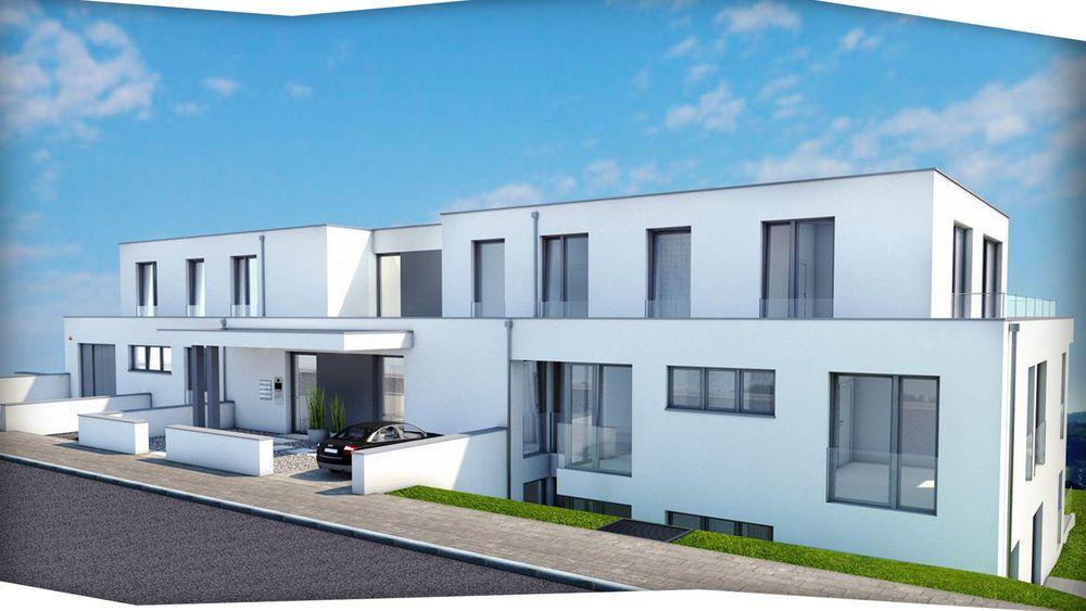 Mehrfamilienhaus Architektur Design 3D Animation Rendering Fassade Stiepel  Ruhrtal